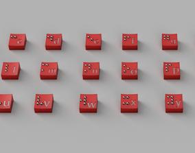 Keyboard brail switch 3D printable model