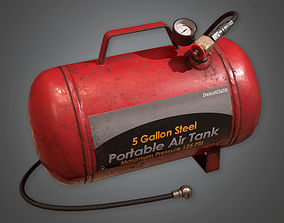 Compressed Air Tank TLS - PBR Game Ready 3D model