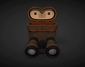 Antique Binoculars with Case - PBR 3D asset