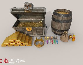 HIE Game Ready Treasure Pack D180518 3D model
