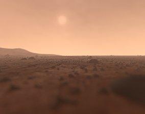 3D model Mars surface - full scene