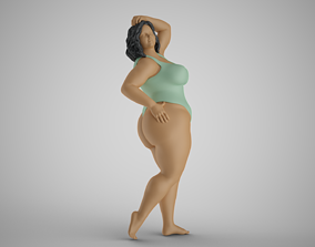 3D print model Woman Vacationer