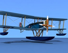 3D model Airco DH-4 Royal Navy Sea Plane