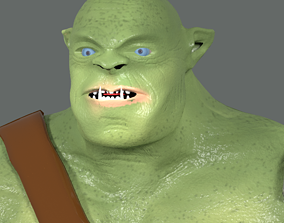 Orc Animated armor 3D model