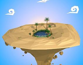 3D asset Floating Island