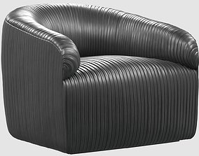 3D asset Souffle club chair Ruched By Kelly Wearstler 2