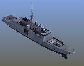 FREMM Aquitaine Frigate 3D