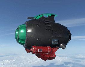 3D model jet Spaceship