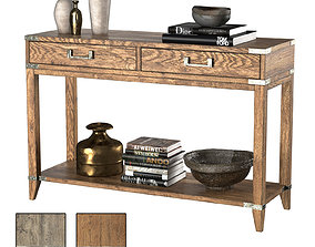 3D CAYDEN CAMPAIGN 2-DRAWER CONSOLE TABLE