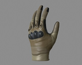 game-ready Military Gloves Low-poly 3D model