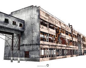 3D asset Abandoned factory