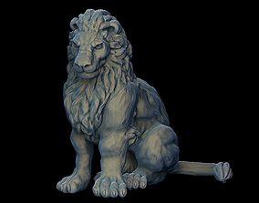 highpoly Lion sculpture 3D printable model