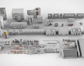 3D Sci-Fi architecture Elements collection 6