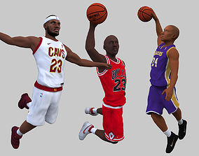 NBA players Jordan Lebron Kobe pack for full color 3D 1