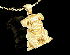 Little Dog Pendant jewelry Gold 3D print model