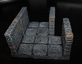 OpenForge Stone Dungeon Edge Corridor 3D printable model