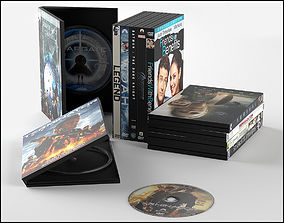 3D model DVD disc with case