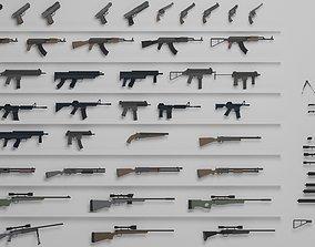 3D model Ultimate Gun Pack Low poly wenapons pack