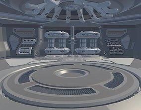 Sci-fi Hangar 3D asset