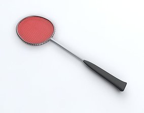 3D model instrument Badminton Racquet