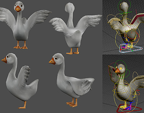 goose 3D animated