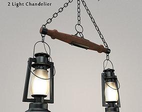 Pioneer Series 2 Light Chandelier 3D