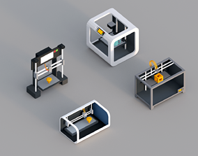 Low Poly 3D Printers VR / AR ready