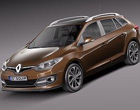 Renault Megane Estate 2014 3D