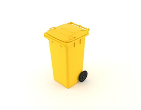 Dumpster 120 litres 3D model dumpster