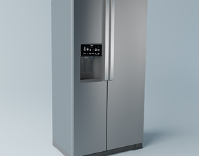 Brastemp Side by Side Refrigerator - Stainless 3D model