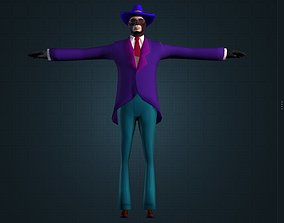3D model Best Colorful Spy Male Character Gameready Free