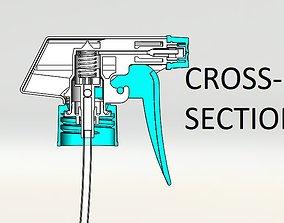 Spray trigger pump 3D printable model