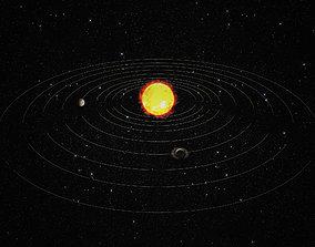 3D asset animated solar sistem