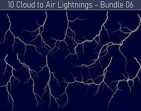 3D Realistic Lightnings Bundle 06 - 10 pack CA