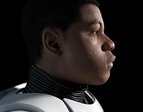 Finn Star Wars character 3D