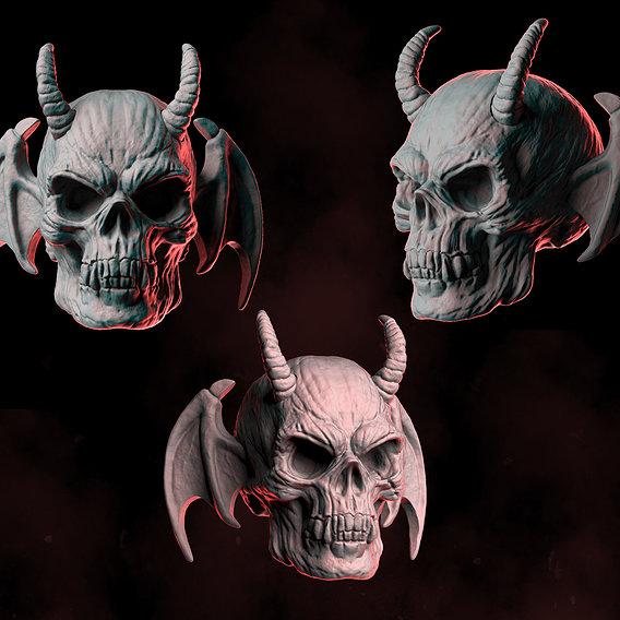 Demon Skull Wings