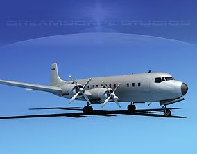 Douglas DC-7C Bare Metal 3D model