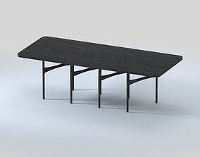 AKMD Link Modular Dining Table Timber and Steel 3D
