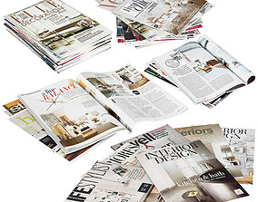 Magazines Stacks 3D model
