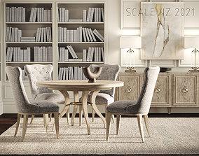 3D Rustic Dining Room Interior ID297