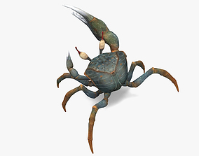 3D model game-ready Crab Lowpoly
