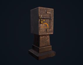 Metal Safe 3D asset