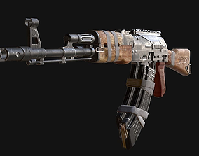 custom ak74 3D model