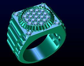 Men ring 3D print model gold