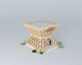 romania int expo pavilion 3D