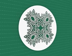 3D peace geometric Mandala