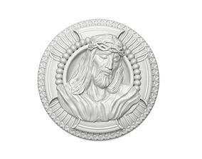 Jesus Christ Peandant Medalion Bas Relief 3D print model