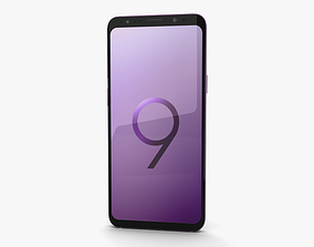 3D droid Samsung Galaxy S9 Lilac Purple