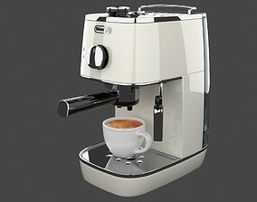 3D asset VR / AR ready DELONGHI - Distinta Coffee Machine