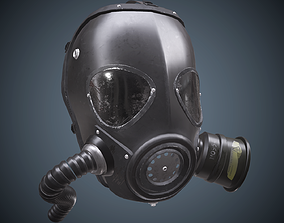 Gas Mask 3D asset game-ready